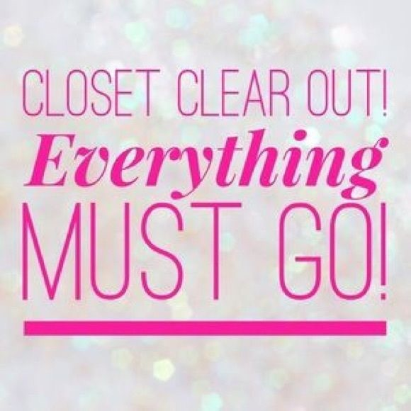 Closet clean out make an offer